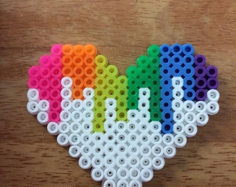 DIY Perler Bead Valentine's Day Heart Card - YouTube |Perler Bead Heart