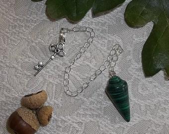 Malachite Pendulum for Divination Magic