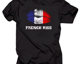 French Kiss T-Shirt Stylish Creative Tee Shirt
