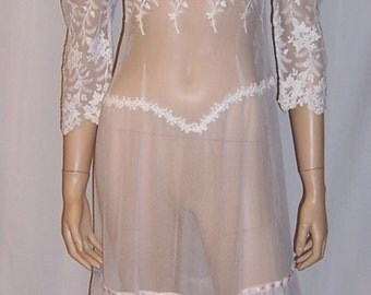 Exquisite Gown Made from Turn of the Century Lace