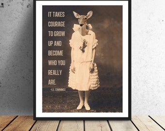 It Takes Courage Print - Instant download