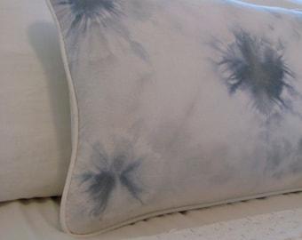 Corazon Tie Dye Throw Pillow in dusty blue ∆∆∆