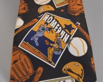 Vintage Renaissance Baseball Full Length Necktie