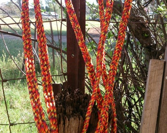 Hand Braided split paracord reins - Made to order