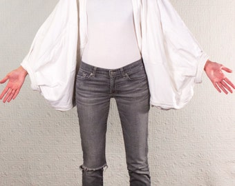 SilkDenim's Thick Tee Shrug Made From 100% Recycled T-Shirts