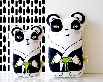 Panda bear decorative pillow, Black and white pillow, Animal pillow, kids pillow, boys bedding, big pillow, kids pillow throw,