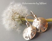 Wishes Earrings Sterling Silver Dandelions Boomers