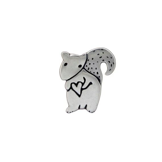 Sterling Squirrel Necklace by marmar - Silver Squirrel Pendant