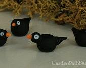 Lampwork Black Crow Bead