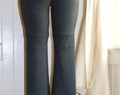 Yoga Pants,fold over waist,womens pants,sexy pants,sexy yoga pants,leggings,organic clothing