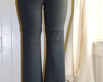 Yoga Pants,fold over waist,womens pants,sexy pants,sexy yoga pants,leggings,organic clothing
