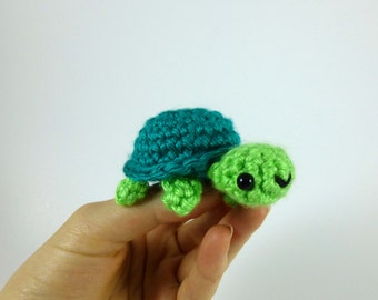 Baby Turtle Amigurumi Crochet Plushie - MADE TO ORDER