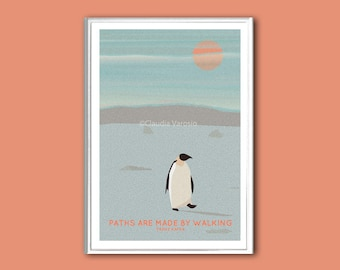 Penguin quote inspirational print in various sizes