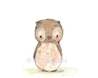 Children's Art -- HOOT -- Archival Print