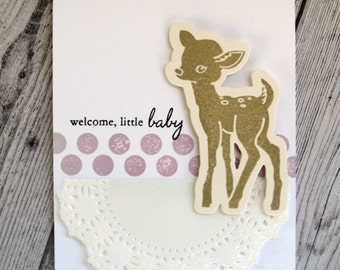 Welcome Little Baby : A Very Merry Handmade Card