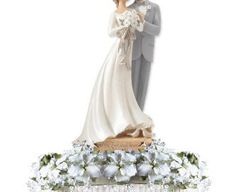 Legacy of Love Wedding Cake Topper - Custom Painted Hair Color Available - 4020315
