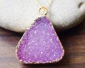 Lilac amethyst druzy Necklace