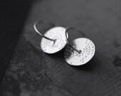 Sunset starlings silver disc earrings