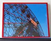 Ferris Wheel Photo- 11X14 Print- Framed Or Unframed- Fine Art Photography- The Wonder Wheel At Dusk- Coney Island