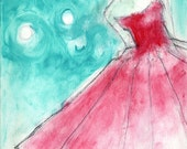 Red Dress Print, Cocktail Dress