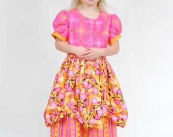 Girl's Dress, Toddler Dress, Children Clothing, Birthday party dress, girls pink dress, yellow, Size 2T 3T 4T 5 6 7 8 9/10