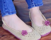 Crochet PATTERN Women's Dream Slippers (3 sizes included) INSTANT download