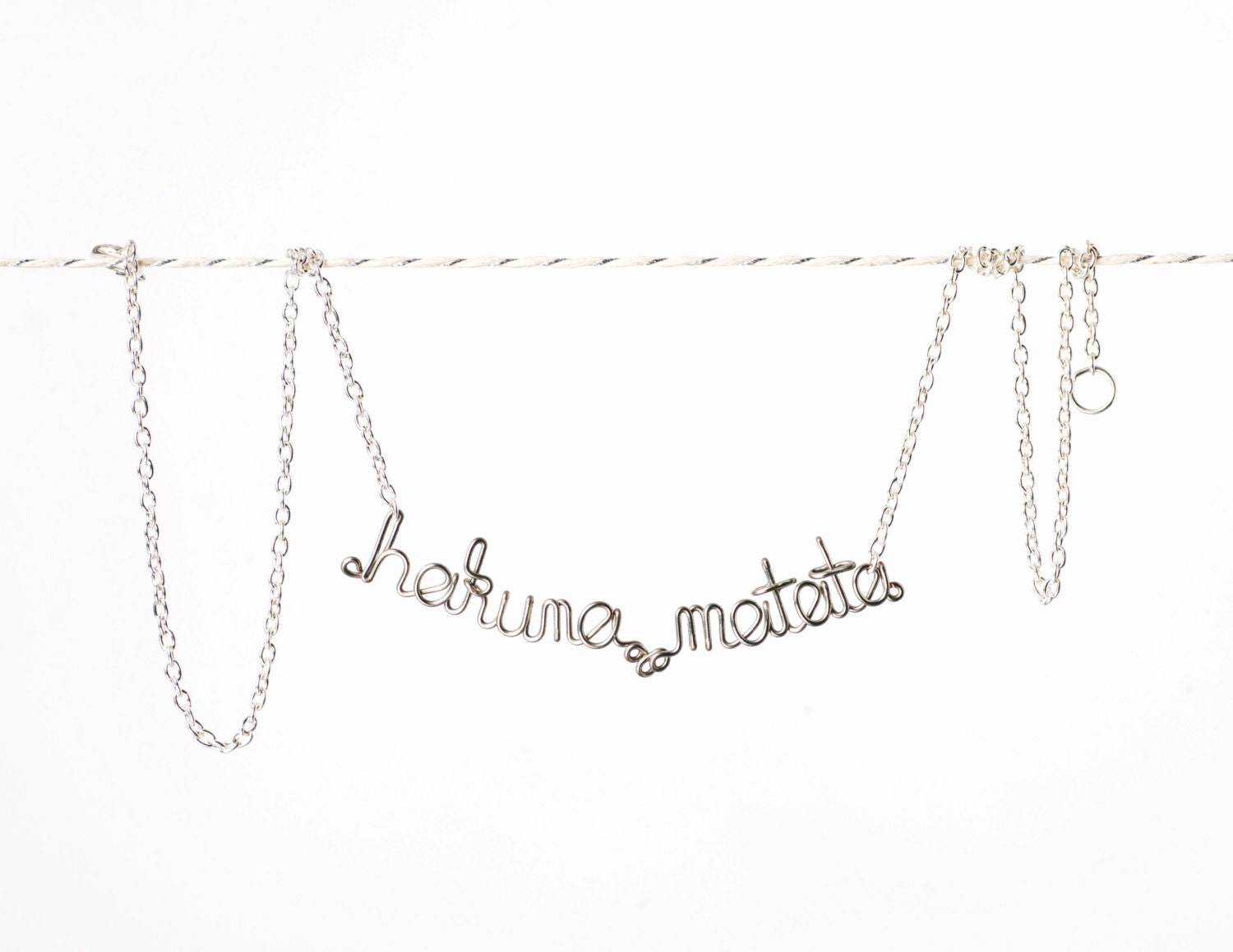 Hakuna Matata Necklace - No Worries in Swahili - Lion King Jewelry