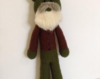 Claude Monet Frog, crochet frog doll, crocheted artist doll