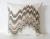 Jonathan Adler Distorted Camel multi color zig zag designer throw pillow cover