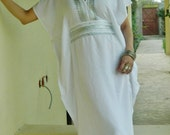 Bridesmaid gifts, Bridesmaid robe, white marine One Size Resort Kaftan-wholesale, Moroccan, beach wedding, bridal shower party