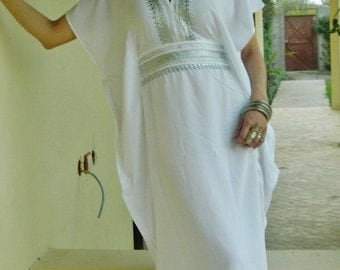 White Caftan Kaftan Resortwear -Luxury loungewear, Perfect as resortwear,spa robe, great for Mothersday gift, Birthdays or Maternity Gifts