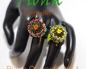 Bead pattern,Half tila ring pattern, Fiona Peyote stitch ring tutorial