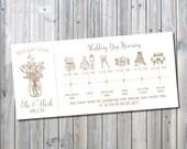 Printable Mason Jar Big Day Timeline