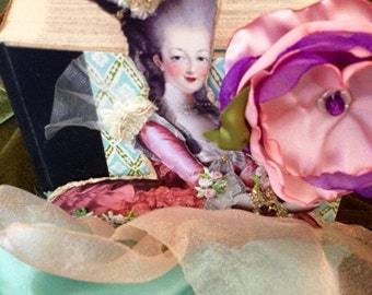 Book Marie Antoinette scented Lavender mix media