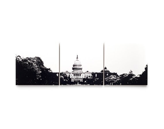 Washington D.C. United States  city photo : Washington, D.C. Skyline Triptych: United States Capitol Building ...