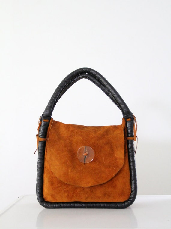 1960s mod suede bag, Ronay purse