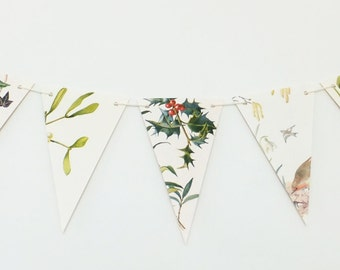 Christmas decoration, Winter Bunting, Christmas Garland, Christmas banner, Christmas bunting, pennants
