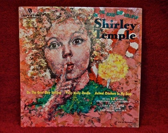 SHIRLEY TEMPLE - On the Good Ship Lollipop - 1960s Vintage Vinyl Record Album