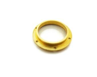Steampunk Submarine Nautical Brass Porthole Port Hole 22 mm Drilled Flange Nautilus Brass with Glass Real Porthole