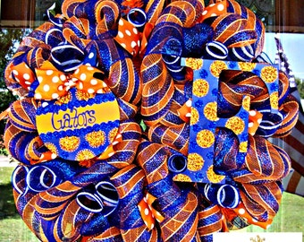 Deco Mesh Florida Gators Wreath