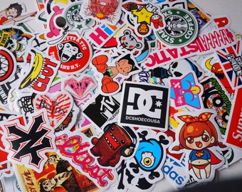 20 PCS Random Mixed Glossy Laptop Skateboard Guitar Decoration Graffiti Stickers Pack Lot 20 pieces