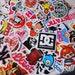 20 PCS Random Mixed Glossy Laptop Skateboard Guitar Decoration Graffiti Stickers Pack Lot 20 pieces