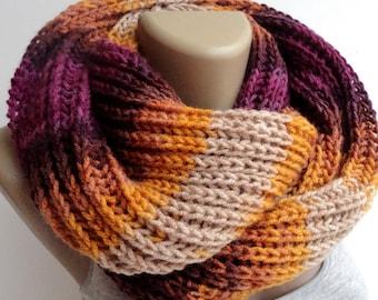 Knit Scarf Winter Scarf Women Knit Infinity Scarf Scarves Men Scarf Women Fashion Accessories  senoaccessory / / On Sale