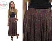 SALE - Vintage 80s High-Waist Skirt / Midi Skirt / Casual Skirt • sm