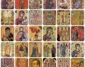 Religious Art. Set of 37 Vintage Prints, Postcards - 1970s-1980s