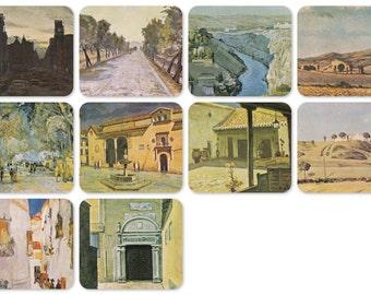 V. Abakumov, Spain. Set of 10 Vintage Postcards - 1981. Fine Arts Publ., Moscow