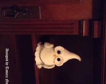 Ghostette the ghost owl - amigurumi PDF crochet pattern