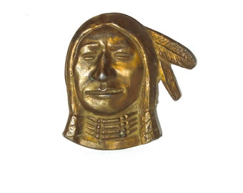 Native American Brass Buckle SIOUX Native American