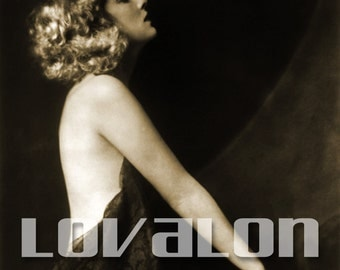 MATURE... I Adore Paris... Instant Digital Download... 1920's Vintage Nude Glamour Fashion Photo by Lovalon