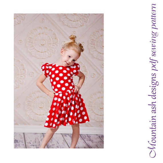 dance dress pattern Storybook Dresses pdf sewing pattern girls sizes 1-14 Villain Queen Princess